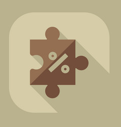 Icons in a flat style puzzle vector