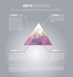 infographics with polygon in triangle vector image