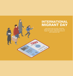 international migrant day concept background vector image