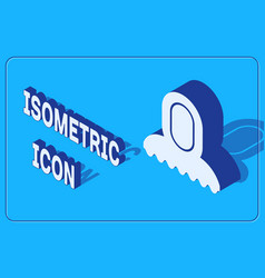 Isometric medieval hood icon isolated on blue vector