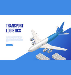 Isometric web design about transport logistics vector