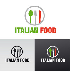italian food cafe and restaurant logo vector image
