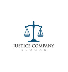 Justice law logo template vector