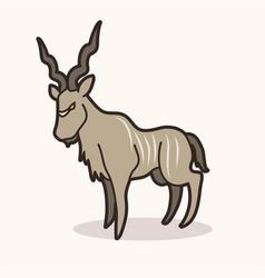 kudu cartoon graphic vector image