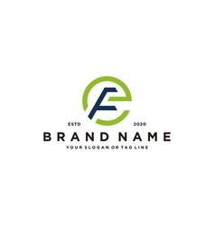 Letter fe logo design vector
