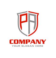 Letter pa logo design vector