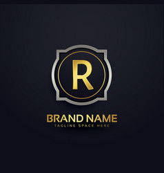 Letter r luxury logo design vector