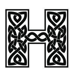 letter with celtic ornament vector image