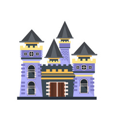 medieval fairytale stone castle vector image