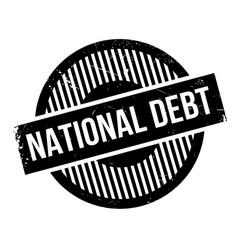 national debt rubber stamp vector image
