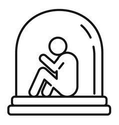 old aging disease icon outline style vector image