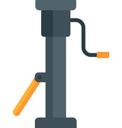 old jack screw icon flat isolated vector image
