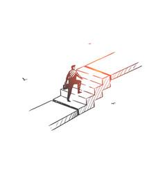 personal development career ladder concept sketch vector image