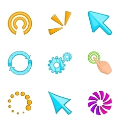 Pointer computer mouse icons set cartoon style vector