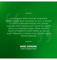 Quotes on green background vector