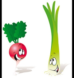 Radish and onion vector