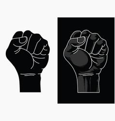 Raised fist power black lives matter outline tran vector