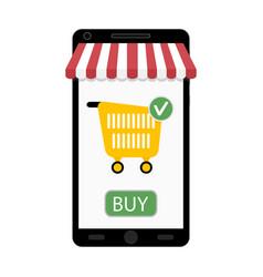 retail online smartphone vector image