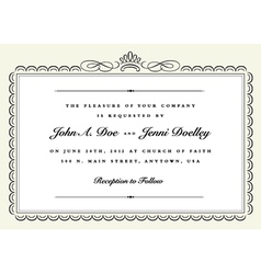 Ribbon frame or certificate vector