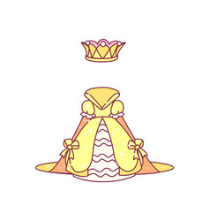 Royal dress with crown vector