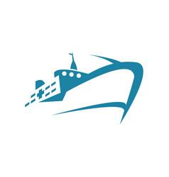 sea ship logo vector image