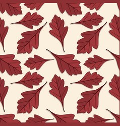 seamless pattern with hawthorn autumn leaves vector image