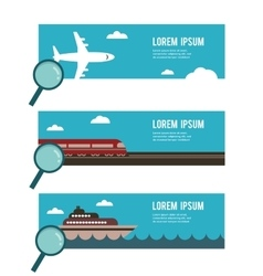 Search for the right transportation for you vector