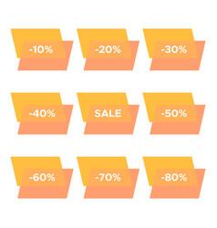 set of nine sale stickers vector image
