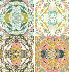 Set of raditional ornamental paisley bandanna hand vector