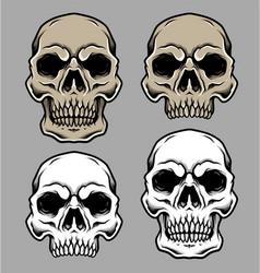 Set skull head vector
