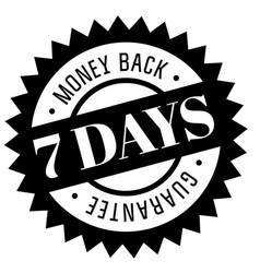 seven days money back guarantee stamp vector image