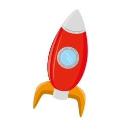 spaceship rocket kid toy icon vector image