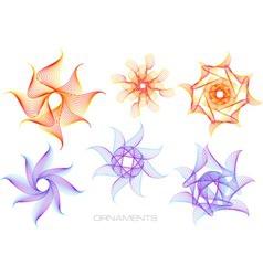 Spirograph logos vector