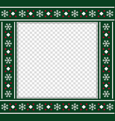 square christmas bordering photo frame vector image