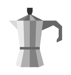 Steel coffee pot icon flat style vector