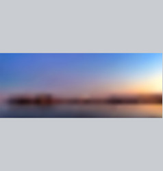 sunset on tropical seashore blurred vector image