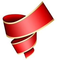 Swirl red ribbon vector image