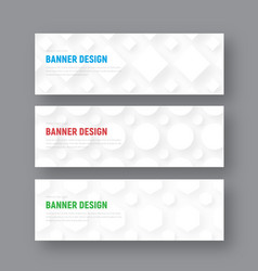 template of a white horizontal banner in a vector image