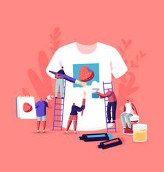 Tshirt print diy hobworkshop concept tiny vector