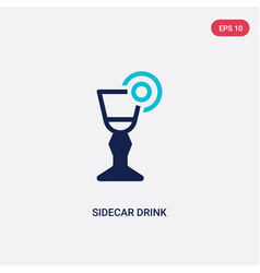 two color sidecar drink icon from drinks concept vector image