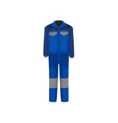 Uniform plumber bright blue male jacket vector
