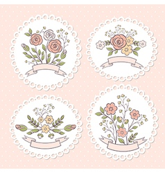 Wedding floral graphic set vector image