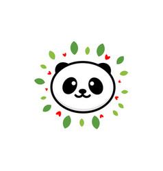 cute panda on positive baby vector image vector image