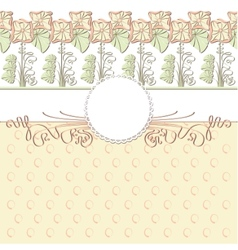 cute template frame design for greeting card vector image