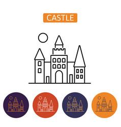 dracula s castle icon vector image
