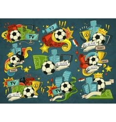 Football sports elements vector image