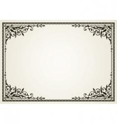 Ornate swirl frames vector