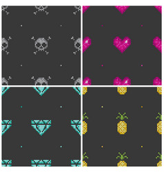 pixel seamless background vector image vector image