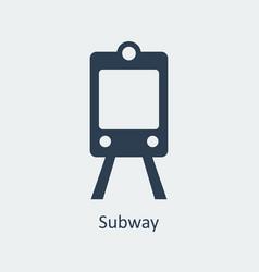 subway icon silhouette icon vector image vector image