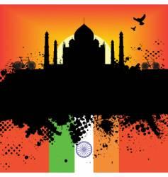Taj Mahal design vector image
